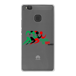 Running On Hope Back Printed Transparent Hard Phone Case - Crossover Threads