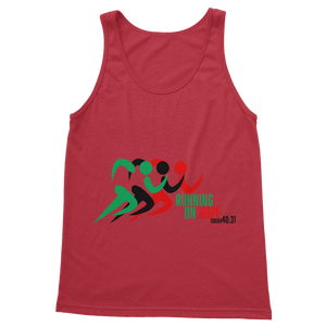 Running On Hope Boss Gent Classic Adult Vest Top - Crossover Threads