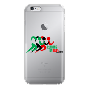Running On Hope Back Printed Transparent Soft Phone Case - Crossover Threads