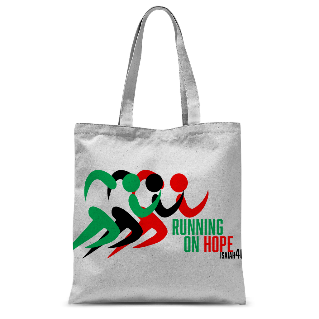 Running On Hope Tote Bag - Crossover Threads