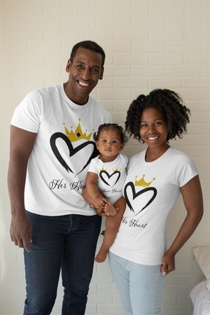 THEIR HEART Onesie (Part of the Heart Collection) - Crossover Threads