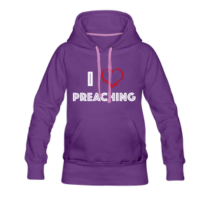 I Love Preaching Women's Premium Hoodie - Crossover Threads