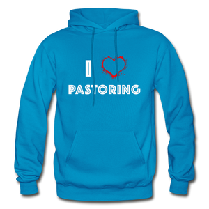 I Love Pastoring Heavy Blend Adult Hoodie - Crossover Threads
