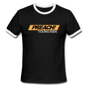 Preach Young Man Men's Ringer T-Shirt - Crossover Threads