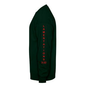 God Never Fails Crewneck Sweatshirt - forest green