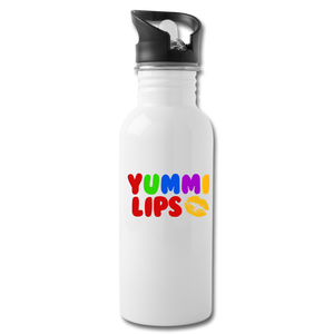 Yummi Lips Water Bottle - white