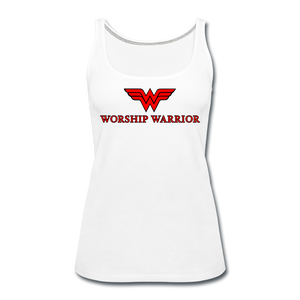 Worship Warrior Tank Top - white