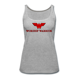 Worship Warrior Tank Top - heather gray