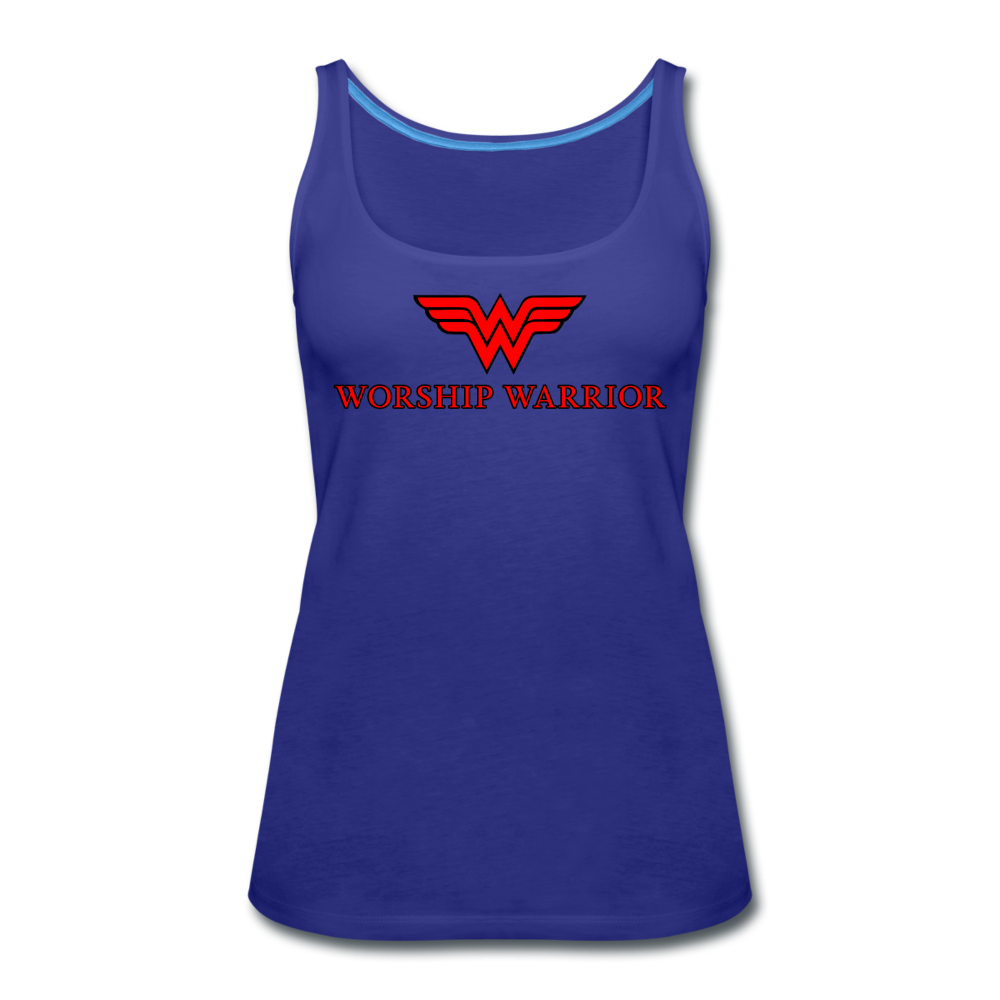 Worship Warrior Tank Top - royal blue