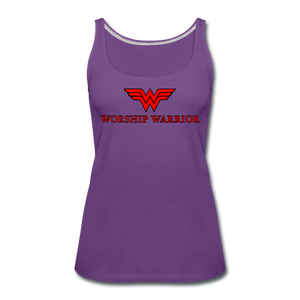 Worship Warrior Tank Top - purple