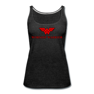 Worship Warrior Tank Top - charcoal gray