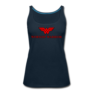 Worship Warrior Tank Top - deep navy