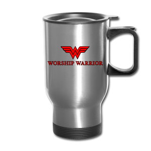 Worship Warrior Travel Mug - silver