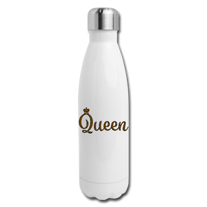 Queen Insulated Stainless Steel Water Bottle - white