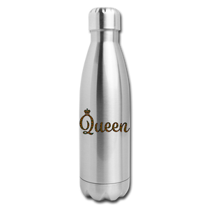 Queen Insulated Stainless Steel Water Bottle - silver