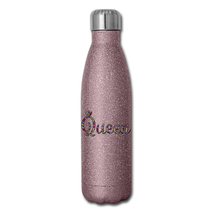 Queen 2 Insulated Stainless Steel Water Bottle - pink glitter