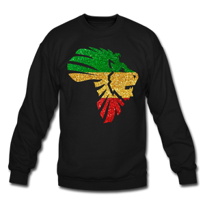 Safari Glitter Crewneck Sweatshirt - black