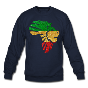 Safari Glitter Crewneck Sweatshirt - navy
