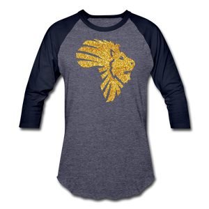 Safari Baseball T-Shirt - heather blue/navy