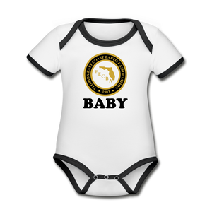 FECBA BABY Short Sleeve Baby Bodysuit - white/black