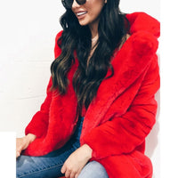 Faux Fur Thick Warm Flurry Plus Size Coat