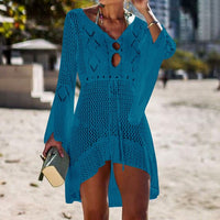 Crochet Knitted Cover Up Dress Beach Tunic Long