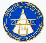 "FAA Wright Brothers ""Master Pilot"" Award Sticker"