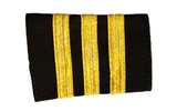 Epaulets Three Bar - Black