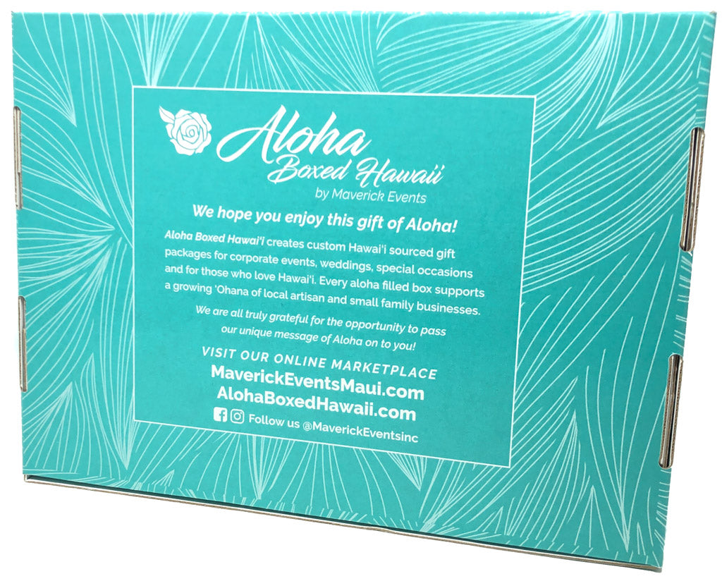 Aloha-Boxed-Hawaii-By-Maverick-Events-Teal-Monstera-Back
