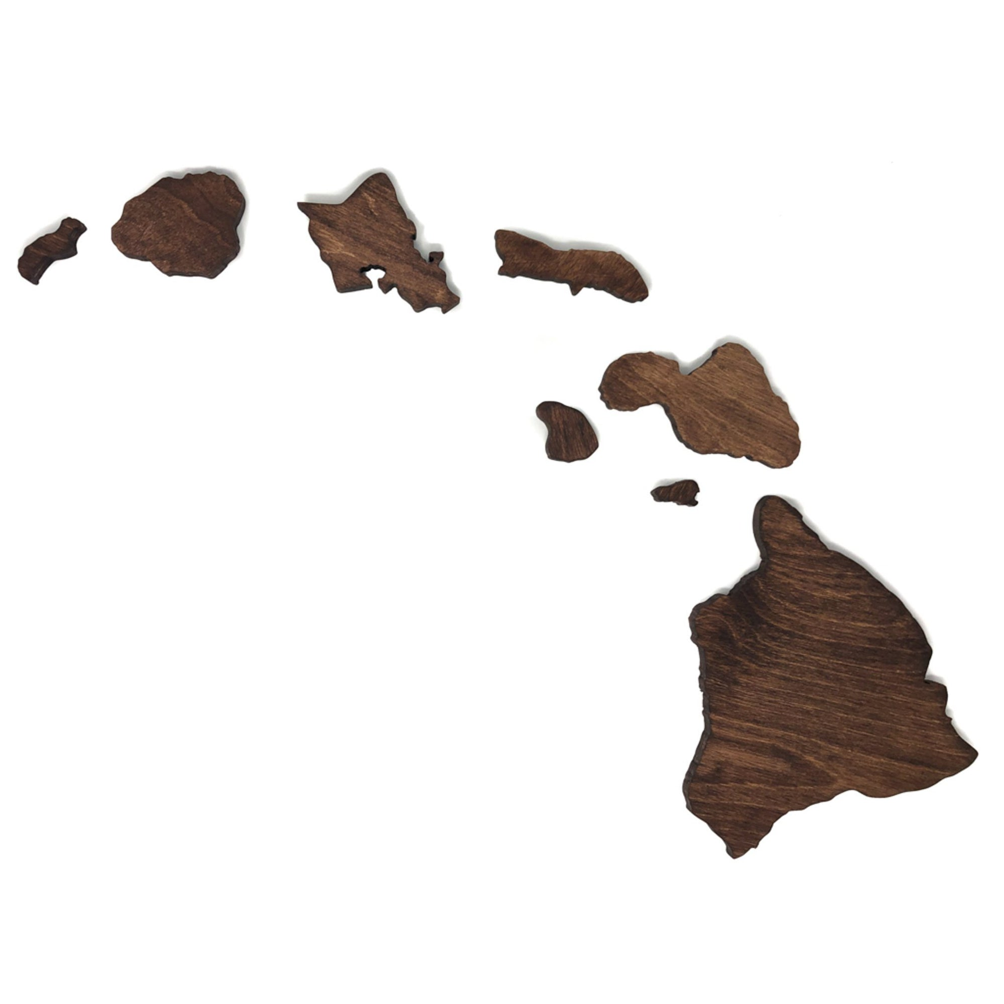 Hawaiian Islands Wall Art Wall Art TKL Woodworks | Maui, HI