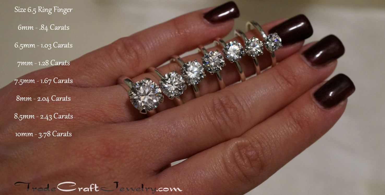 carat to ring diamond how get james engagement price perfect allen the size comparison