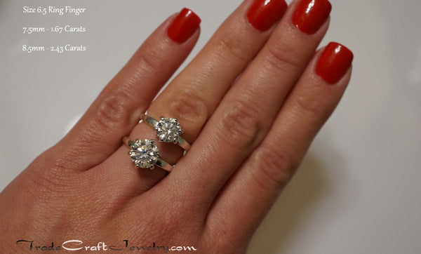 classic 6 prong cubic zirconia engagement ring sterling