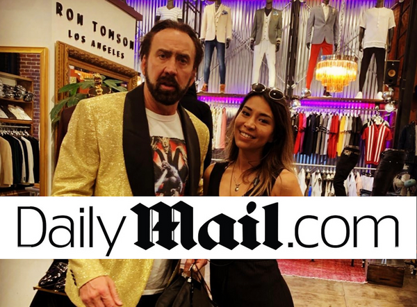 Nicolas Cage visits Ron Tomson Downtown Los Angeles Store
