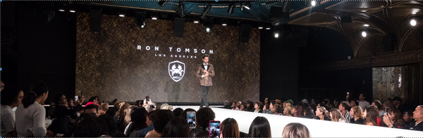 Ron Tomson showing capsule collection @ NYFW