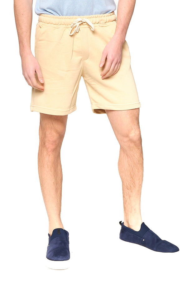 Weekender Cotton Shorts - BEIGE - Ron Tomson