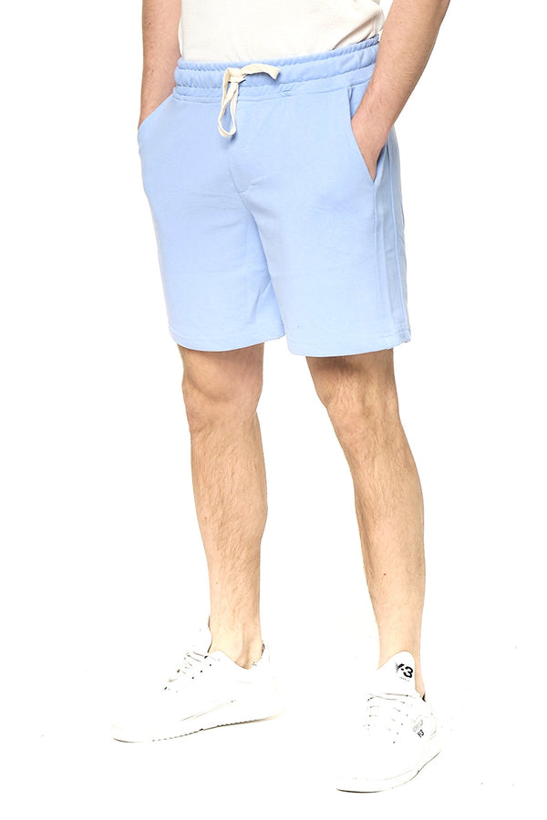 Weekender Cotton Shorts - Sky Blue - Ron Tomson