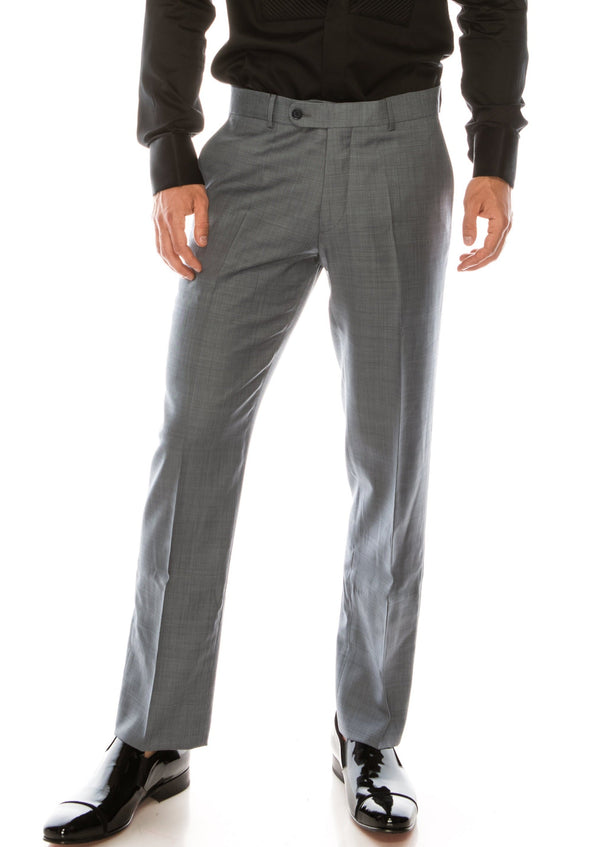 Merino Wool Tapered Dress Pants - Deep Grey - Ron Tomson ?id=15197172924501