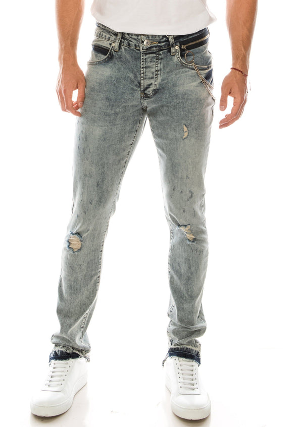 Grunge Skinny Denim - BLUE - Ron Tomson