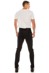Rt Zip Track Slim Fit Jeans - Navy - Ron Tomson