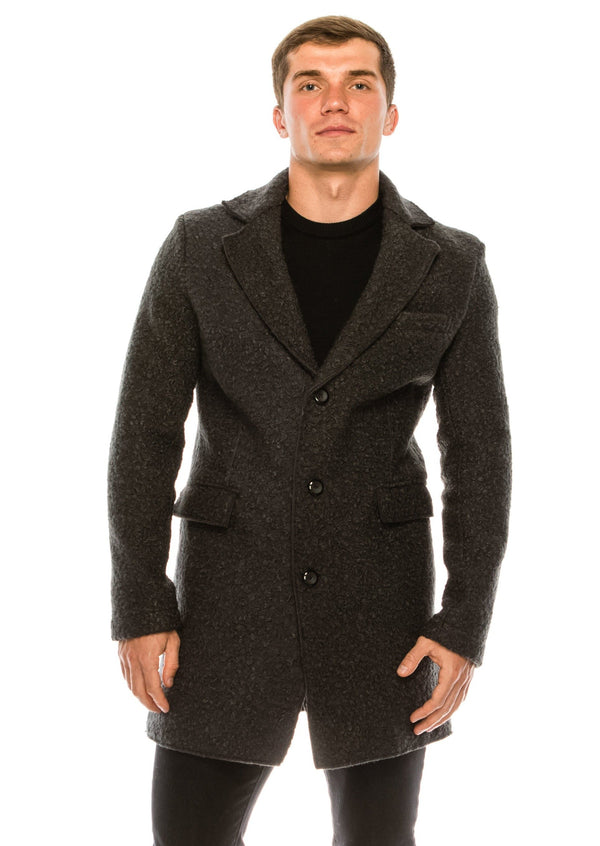 Boucle Coat - Anthracite - Ron Tomson