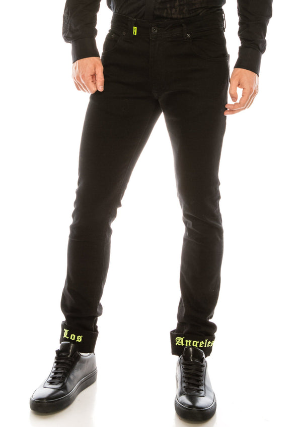 Los Angeles Lux Denim - BLACK YELLOW - Ron Tomson