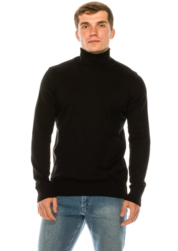 ROLLNECK SWEATER BLACK - Ron Tomson