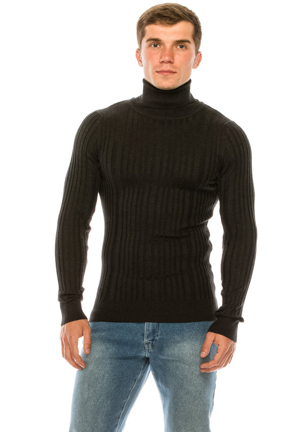 Roll Neck Ribbed Sweater - Anthracite - Ron Tomson ?id=15324805398613