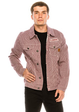 Denim Jacket - Wine - Ron Tomson