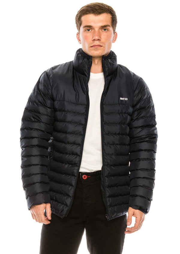 Reflector Logo Quilted Jacket - NAVY