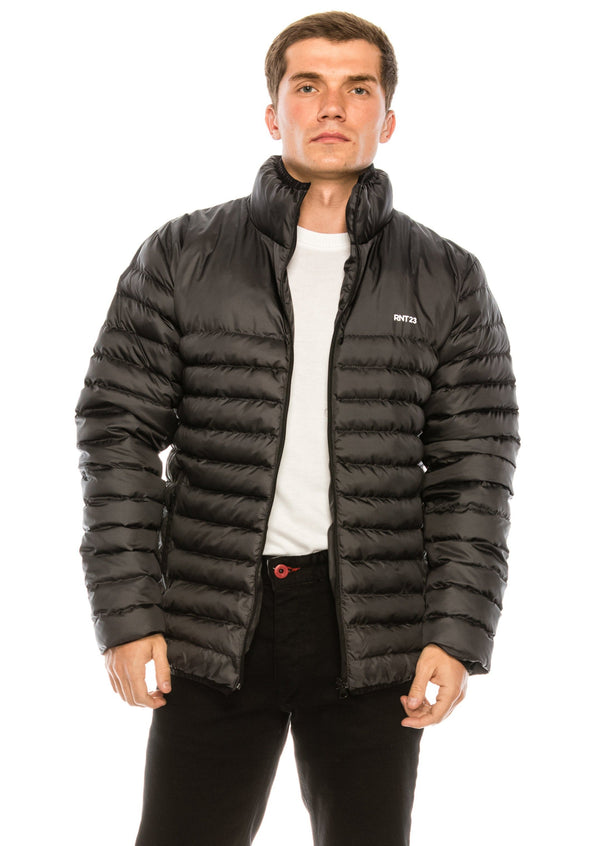 Reflector Logo Quilted Jacket - ANTHRACITE