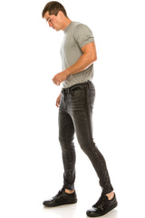 Side Band Skinny Denim - Black Black - Ron Tomson