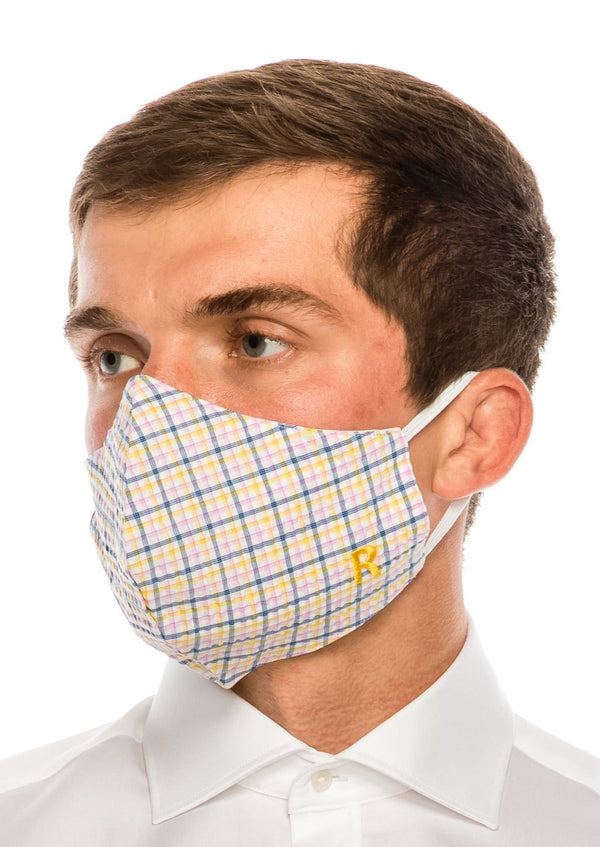 Face masks reusable and washable - Blue Yellow - Ron Tomson