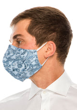 Face masks reusable and washable - Light Blue Paisley - Ron Tomson ?id=15387614478421