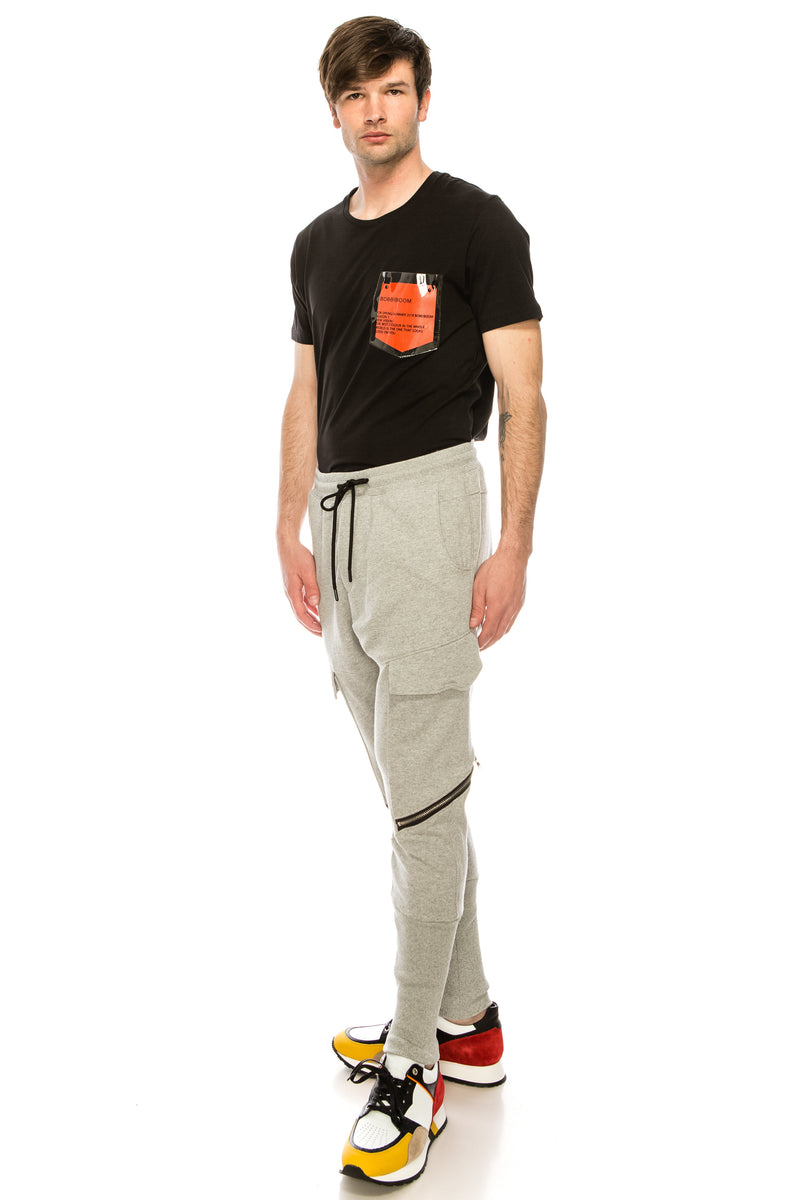 RT Sport Zippered Joggers - Grey - Ron Tomson ?id=15891468189781